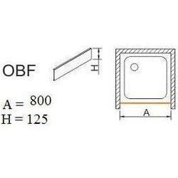 SANPLAST obudowa do brodzików do zabudowy wnękowej OBF 80x12,5 625-401-0300-01-000