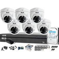 Zestawy monitoringowe, Zestaw do monitoringu BCS-XVR0801 6x Kamera BCS-DMQE3200IR3-B Dysk 1TB Akcesoria