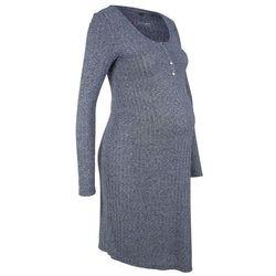 Sukienka shirtowa ciążowa i do karmienia piersią bonprix indygo melanż