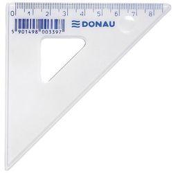 Ekierka DONAU, mała, 8,5cm, 45, transparentna