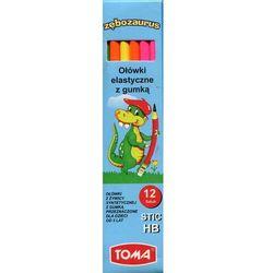 Ołówek elastyczny z gumką 12 sztuk - TOMA OD 24,99zł DARMOWA DOSTAWA KIOSK RUCHU