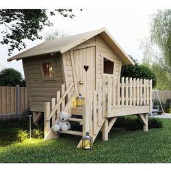 Domek dla dzieci z tarasem Płomyk 2 x 2 m