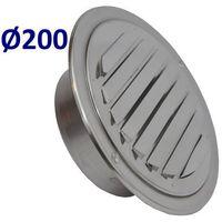 Pozostałe akcesoria do wentylacji, Kratka nierdzewna czerpnia wyrzutnia UELA Średnice od 100mm do 200mm. CZerpnia do Wentylacji i Rekuperacji Średnica [mm]: 200
