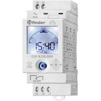 Programatory, FINDER Zegar astronomiczny programowany z NFC, 1 zestyk przełączny 1P 16A 230V, programowany za pomocą kodów pocztowych lub współrzęnych geo., opcja przerwy nocnej 12.81.8.230.0000