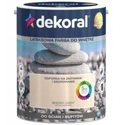 Farba Lateksowa Akrylit W Kolor Beżowy Jasny 5l Dekoral