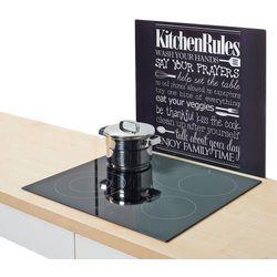 Szklana płyta ochronna KITCHEN RULES na kuchenkę – duża, ZELLER