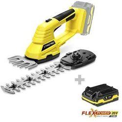 Akumulatorowe nożyce do trawy i krzewów PGSS 10-20V + Akumulator Flexpower 20V 2,0 Ah