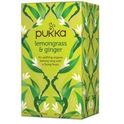 PUKKA 20x1,8g Lemongrass & Ginger Herbata naturalnie aromatyzowana Bio