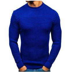 Sweter męski kobaltowy Denley 6004