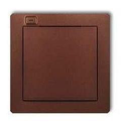 Nadajnik Karlik Deco 9DEL-1 1-klawiszowy 2-kanałowy z czujnikiem temperatury do systemu Exta Life brązowy metalik