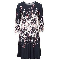 Sukienka z nadrukiem bonprix czarny z nadrukiem