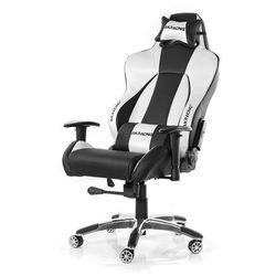 AKracing Premium V2 Silver Krzesło gamingowe - Czarno-srebrny - Skóra PU - 150 kg