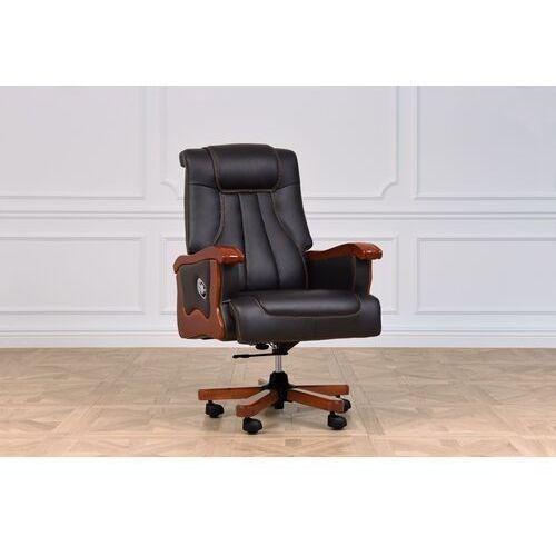 Fotele i krzesła biurowe, Fotel skórzany PRESTIGE czarny