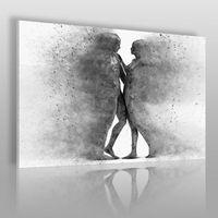 Obrazy, Metafizyka miłości w szarościach - nowoczesny obraz na płótnie