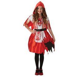 Kostium Zakrwawiony Czerwony Kapturek dla dziewczynki - 9-10 lat