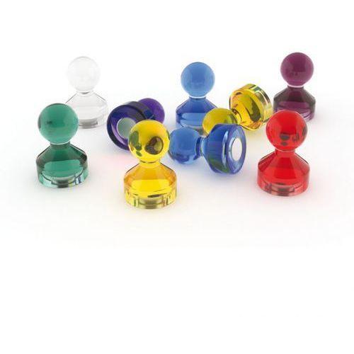 Pozostałe artykuły reklamowe, Komplet magnesów do tablic szklanych, 50 Szt.