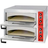 Piece i płyty grzejne gastronomiczne, Piec do pizzy dwukomorowy 8x 32cm STALGAST 781024