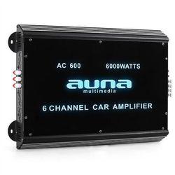 6-kanałowy wzmacniacz samochodowy Auna 6000W akryl