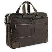 Pokrowce, torby, plecaki do notebooków, Teczka biznesowa, 2 w 1 dzielona na pół, z kieszenią na laptopa do 15,6' i tablet do 10', Nylon, marki Roncato kolekcja Wall Street - kolor brązowy