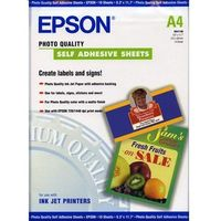 Papiery i folie do drukarek, Epson C13S041106 Photo Quality Ink Jet Paper self-adhesive, DIN A4, 167 g/m2, 10 arkuszy