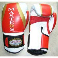 Rękawice do walki, Rękawice bokserskie MASTERS - RBT-501 - czerwono-biało-złoty