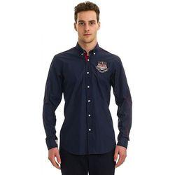 Galvanni koszula męska Pinetop L ciemny niebieski