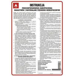 Instrukcja przeciwpożarowego zabezpieczenia magazynów z materiałami pożarowo niebezpiecznymi