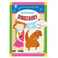 Literatura młodzieżowa, Kolorowe dinozaury. Baw się i koloruj z Mają 2 - praca zbiorowa - książka