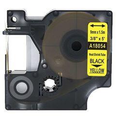 Rurka termokurczliwa DYMO Rhino 18054 9mm x 1.5m ø 1.7mm-3.7mm żółta czarny nadruk S0718290 - zamiennik   OSZCZĘDZAJ DO 80% - Z