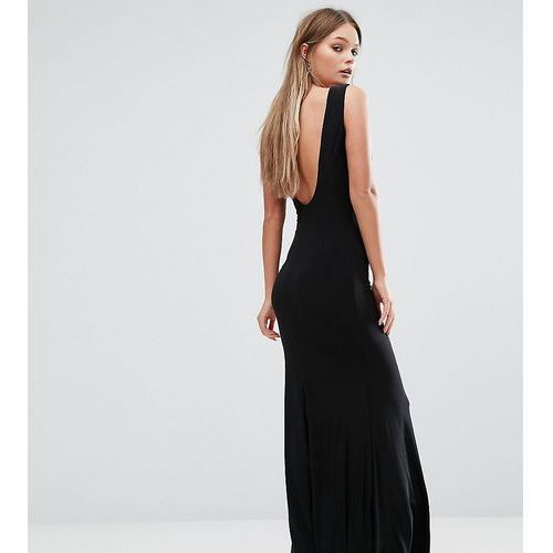 Suknie i sukienki, Club L Deep Plunge Back Maxi Dress - Black