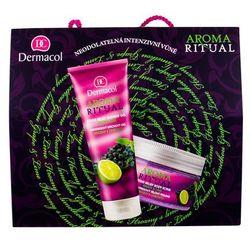 Dermacol Aroma Ritual Grape & Lime zestaw Żel pod prysznic 250 ml + Peeling do ciała 200 ml dla kobiet