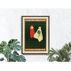 Plakat Plakat Drukarka śródlądowe, Boże Narodzenie 1895