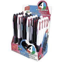 Długopis automatyczny 4kolory 24 sztuki