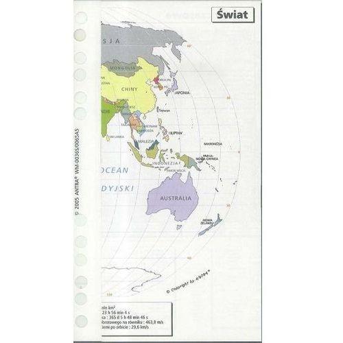 Mapy i atlasy turystyczne, Wkład do organizera A5 mapa świata ANTRA