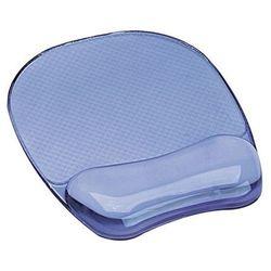 FELLOWES Podkładka pod mysz i nadgarstek żelowa CRYSTAL, niebieski