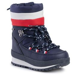 Śniegowce TOMMY HILFIGER - Technical Bootie T1B6-30536-0328 M Blue/Red/White Y019