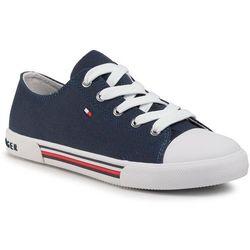 Trampki TOMMY HILFIGER - Low Cut Lace-Up Sneaker T3X4-30692-0890 S Blue 800