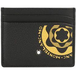 Montblanc Meisterstück Soft Etui na karty bankowe skórzana 10 cm black/yellow ZAPISZ SIĘ DO NASZEGO NEWSLETTERA, A OTRZYMASZ VOUCHER Z 15% ZNIŻKĄ