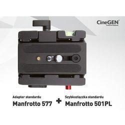 Adapter standard Manfrotto 577z płytką 501PL
