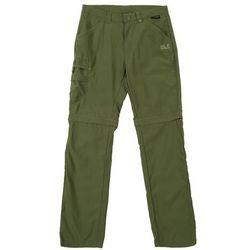 Jack Wolfskin Safari Spodnie długie Dzieci oliwkowy 116 2018 Spodnie z odpinanymi nogawkami