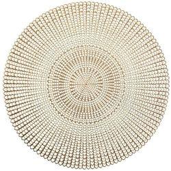 Podkładka ochronna, dekoracyjna mata na stół - kolor złoty, Ø 41 cm, ZELLER