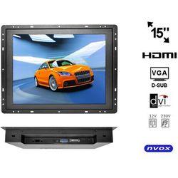 "Monitor open frame LED 15"" VGA HDMI BNC 12V 230V"