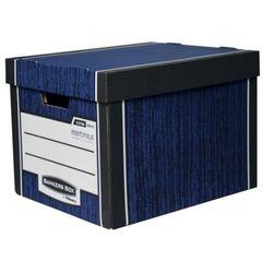 Pojemnik archiwizacyjny Bankers Box Woodgrain, niebieski, 10 szt.