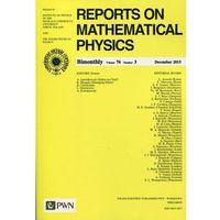 Gazety i czasopisma, Reports on Mathematical Physics 76/3 2015 Kraj (opr. miękka)