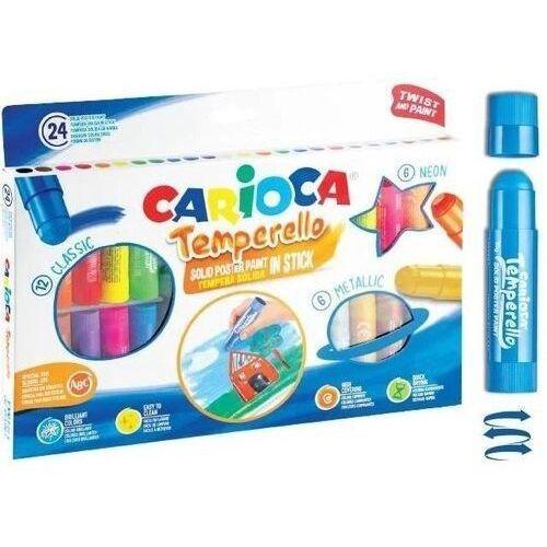 Farbki, Farby w sztyfcie 24 kolory CARIOCA