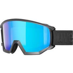 UVEX Athletic CV Gogle, black mat/colorvision blue fire 2019 Gogle narciarskie