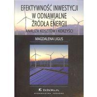 Książki o biznesie i ekonomii, Efektywność inwestycji w odnawialne źródła energii (opr. miękka)