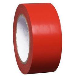 Taśma do znakowania podłoża z winylu, jednokolorowa, szer. 50 mm, czerwona, opak