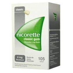NICORETTE Classic 4mg x 105 gum IR (import równoległy)