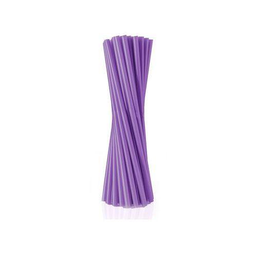 Pozostałe wyposażenie domu, Słomki - rurki fioletowe proste - 24 cm - 500 szt. - Fioletowy